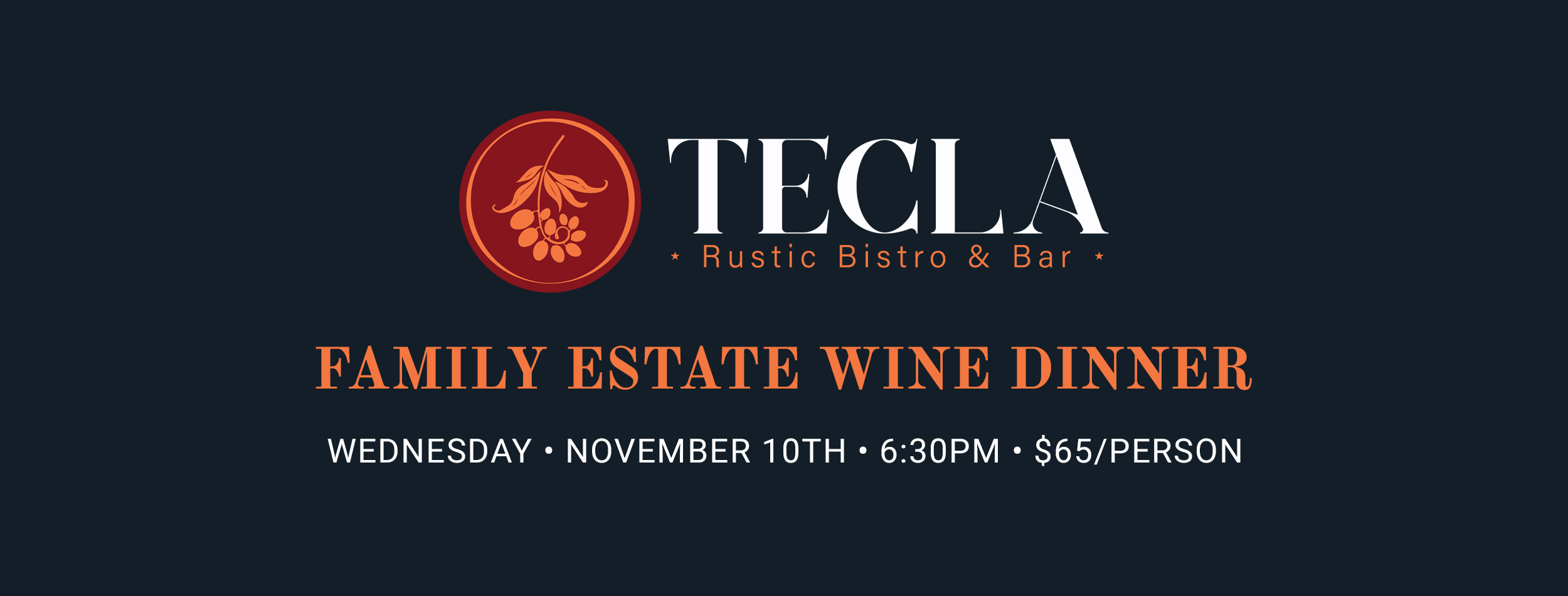 You are currently viewing 11/10/21 Family Estate Wine Dinner